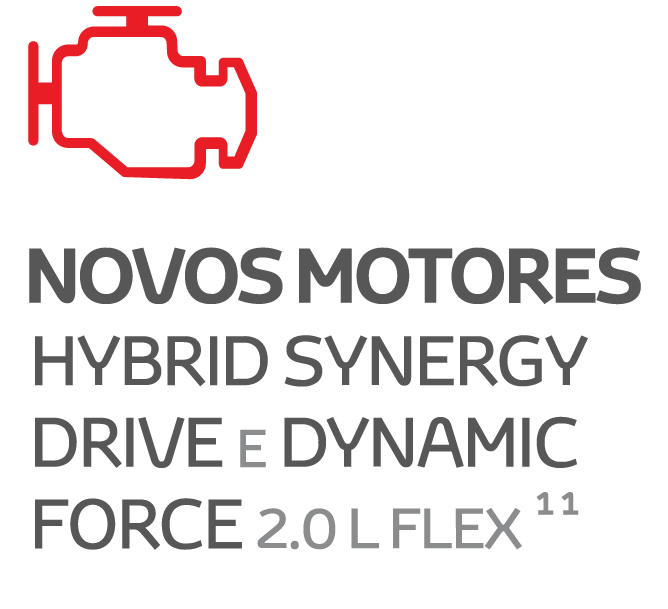 NOVOS MOTORES HYBRID SYNERGY DRIVE E DYNAMIC FORCE 2.0L FLEX